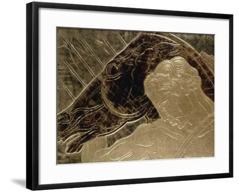 Man and His Horse-Jean Dunand-Framed Art Print