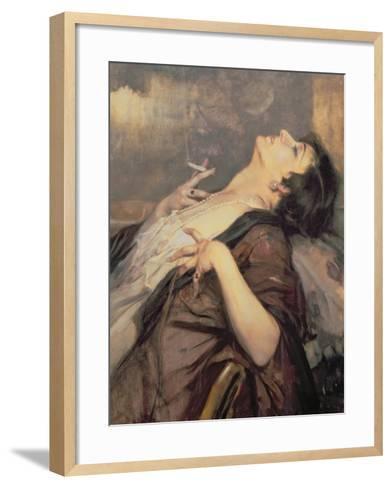 The Pleasure of Smoking-Jean Gouweloos-Framed Art Print