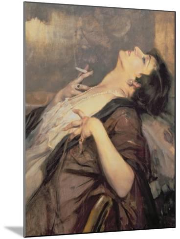 The Pleasure of Smoking-Jean Gouweloos-Mounted Giclee Print