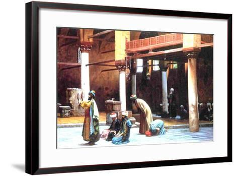 Prayer in a Mosque, 1892-Jean Leon Gerome-Framed Art Print