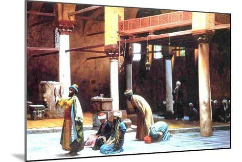 Prayer in a Mosque, 1892-Jean Leon Gerome-Mounted Giclee Print