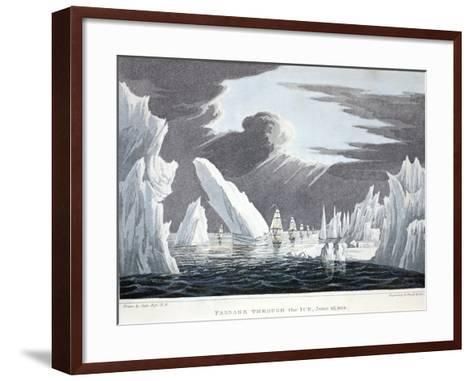 Passage Through the Ice, 16th June 1818, Illustration from 'A Voyage of Discovery...', 1819-John Ross-Framed Art Print