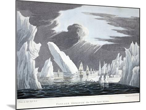 Passage Through the Ice, 16th June 1818, Illustration from 'A Voyage of Discovery...', 1819-John Ross-Mounted Giclee Print