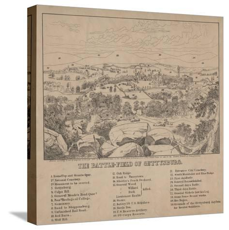 The Battle-Field of Gettysburg, C.1867-Louis N. Rosenthal-Stretched Canvas Print