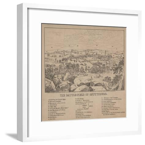 The Battle-Field of Gettysburg, C.1867-Louis N. Rosenthal-Framed Art Print