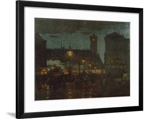 Alexander Square, Berlin, at Night, 1895-Karl Langhammer-Framed Art Print
