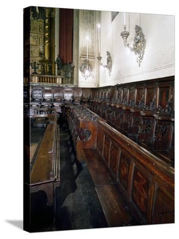 Wooden Choir-Lorenzo Da Lendinara-Stretched Canvas Print