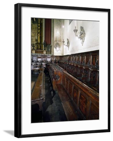 Wooden Choir-Lorenzo Da Lendinara-Framed Art Print