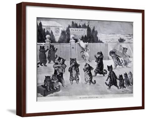 The Christmas Invitation - a Hoax, 1900-Louis Wain-Framed Art Print