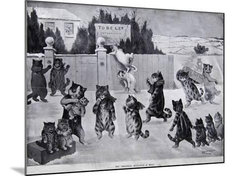 The Christmas Invitation - a Hoax, 1900-Louis Wain-Mounted Giclee Print