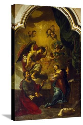 Annunciation-Luca Cambiaso-Stretched Canvas Print
