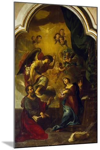 Annunciation-Luca Cambiaso-Mounted Giclee Print
