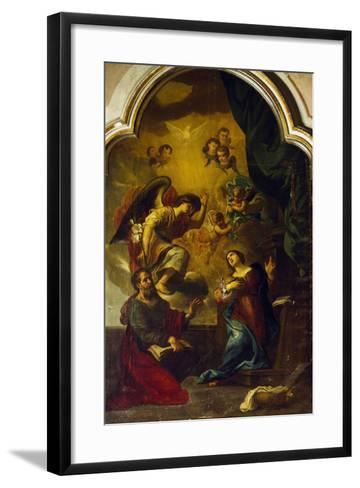 Annunciation-Luca Cambiaso-Framed Art Print