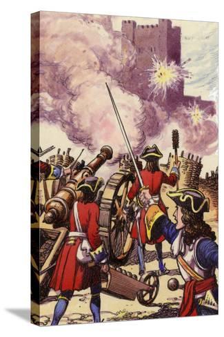 Carrickfergus Castle under Siege-Pat Nicolle-Stretched Canvas Print