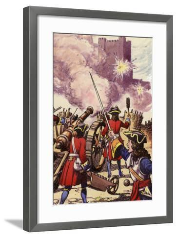 Carrickfergus Castle under Siege-Pat Nicolle-Framed Art Print