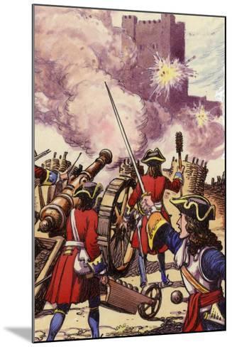 Carrickfergus Castle under Siege-Pat Nicolle-Mounted Giclee Print