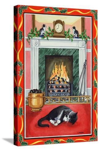 Christmas Fire-Lavinia Hamer-Stretched Canvas Print