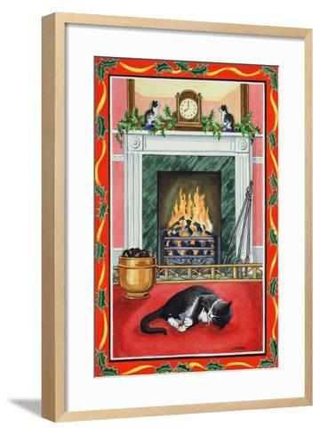 Christmas Fire-Lavinia Hamer-Framed Art Print