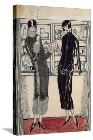 Twenties Women's Fashion Plate-M. Friedlaender-Stretched Canvas Print