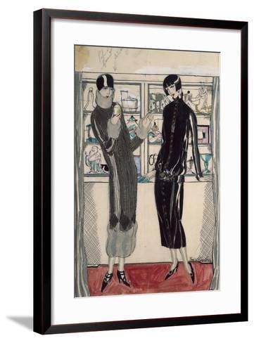 Twenties Women's Fashion Plate-M. Friedlaender-Framed Art Print