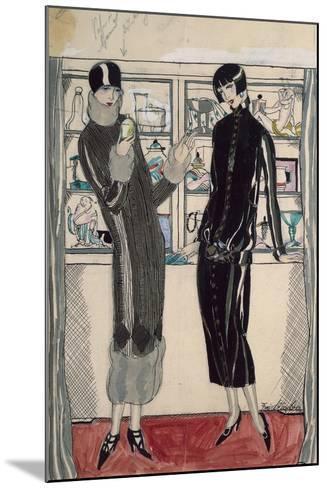 Twenties Women's Fashion Plate-M. Friedlaender-Mounted Giclee Print