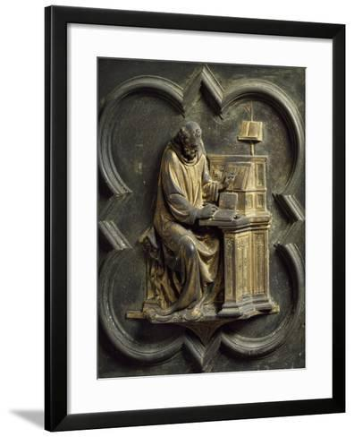 Church Father, Bronze Panel-Lorenzo Ghiberti-Framed Art Print