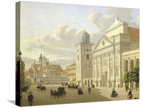 Saint Anna Church, Warsaw, Poland 19th Century-Malarz Nieznani-Stretched Canvas Print