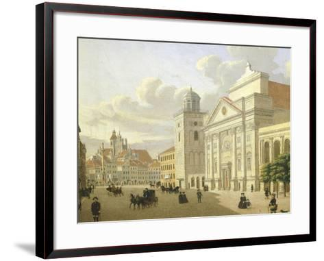 Saint Anna Church, Warsaw, Poland 19th Century-Malarz Nieznani-Framed Art Print