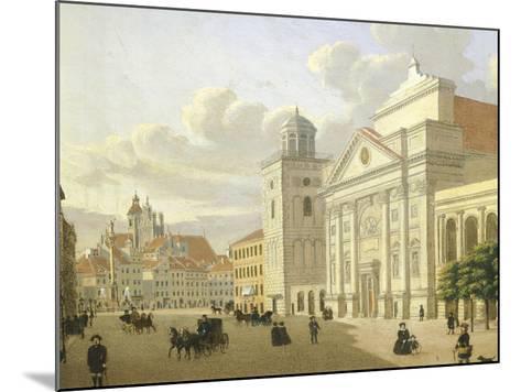 Saint Anna Church, Warsaw, Poland 19th Century-Malarz Nieznani-Mounted Giclee Print