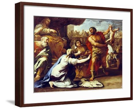 Judgement of Solomon-Luca Giordano-Framed Art Print