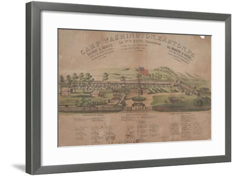 Camp Washington, Easton, Pa-Max Rosenthal-Framed Art Print