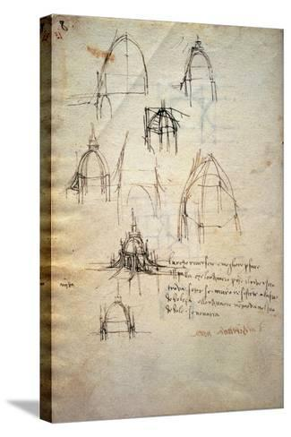 Study for the Dome of the Cathedral of Milan, the Code Trivulzianus, 1478-1490-Leonardo da Vinci-Stretched Canvas Print