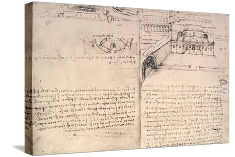 Staircase-Leonardo da Vinci-Stretched Canvas Print