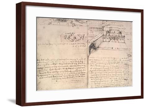 Staircase-Leonardo da Vinci-Framed Art Print
