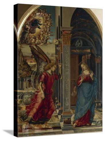 The Annunciation, 1491-Luca Signorelli-Stretched Canvas Print