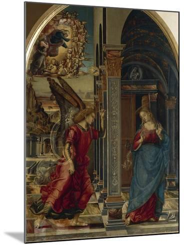 The Annunciation, 1491-Luca Signorelli-Mounted Giclee Print