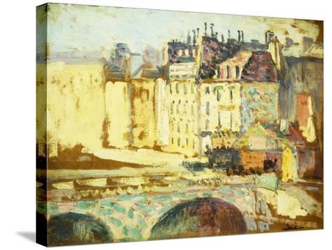 Paris, Le Pont Neuf-Maximilien Luce-Stretched Canvas Print