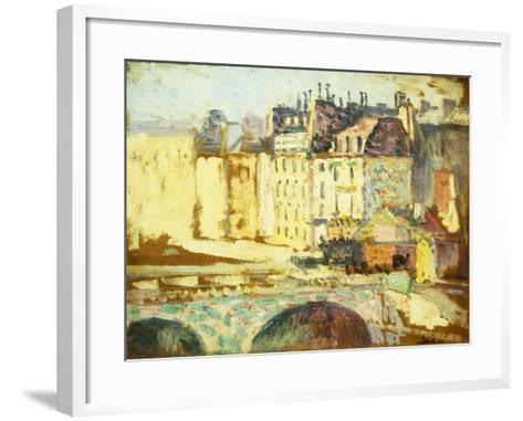 Paris, Le Pont Neuf-Maximilien Luce-Framed Art Print