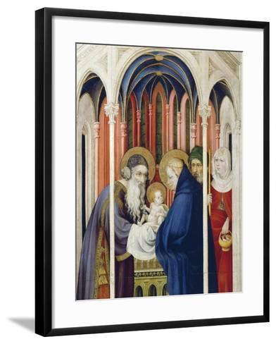 Circumcision of Jesus, Right Panel of Champmol Altarpiece, 1393-1399-Melchior Broederlam-Framed Art Print