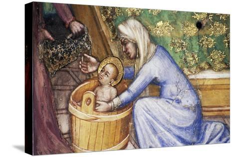Birth of Mary, Detail from Fresco Cycle Stories of Virgin-Ottaviano Nelli-Stretched Canvas Print