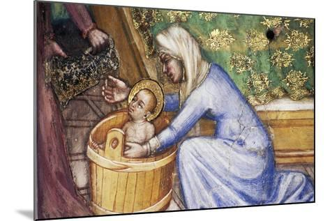 Birth of Mary, Detail from Fresco Cycle Stories of Virgin-Ottaviano Nelli-Mounted Giclee Print