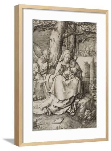 Virgin and Child with Two Angels, 1523-Lucas van Leyden-Framed Art Print