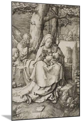 Virgin and Child with Two Angels, 1523-Lucas van Leyden-Mounted Giclee Print