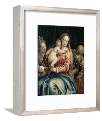 Madonna and Child, St Peter and St Agnes, 1555-1560-Paolo Caliari-Framed Art Print
