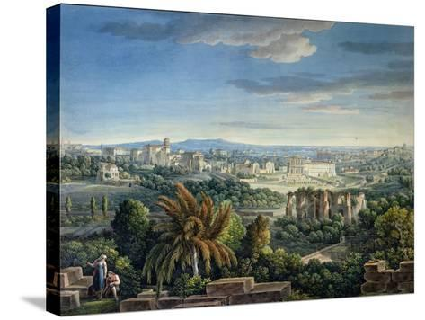 View of the Celian Hill, Rome, C.1800-Louis-Francois Cassas-Stretched Canvas Print