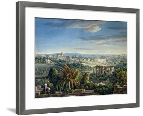 View of the Celian Hill, Rome, C.1800-Louis-Francois Cassas-Framed Art Print