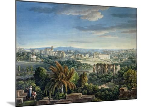 View of the Celian Hill, Rome, C.1800-Louis-Francois Cassas-Mounted Giclee Print