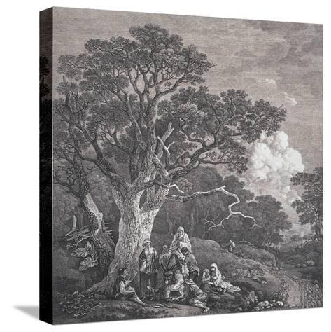 The Gipsies, C.1754-Thomas Gainsborough and Joseph Wood-Stretched Canvas Print