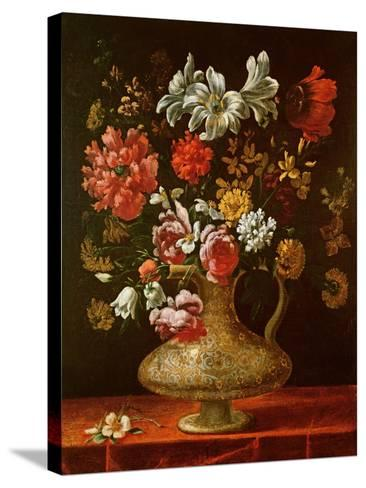 Still Life with Flowers-Thomas Hiepes-Stretched Canvas Print