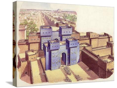 The Ishtar Gate of Babylon-Pat Nicolle-Stretched Canvas Print